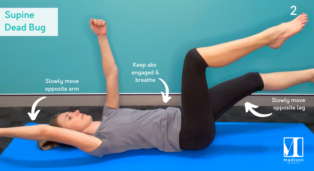 supine dead bug ab exercise 2